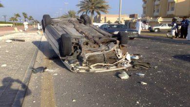 مصرع شخصين وإصابة 12 أخرين فى حادث انقلاب سيارة بطريق أسيوط الجديدة