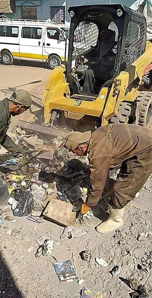 تحرير 13 محضر إشغال فى حملة مكبرة بمدينة الزينية شمال الأقصر
