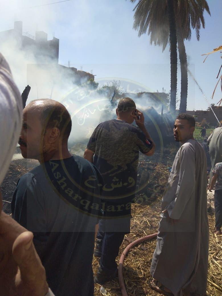 السيطرة على حريق بحوش مواشى فى قرية العشى شمال الأقصر